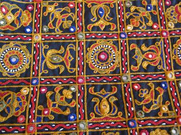 Abla Hand Mirror Shisha Work Embroidery Design - Utsavpedia