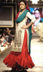 Long Kurta and Red Lacha for Brides