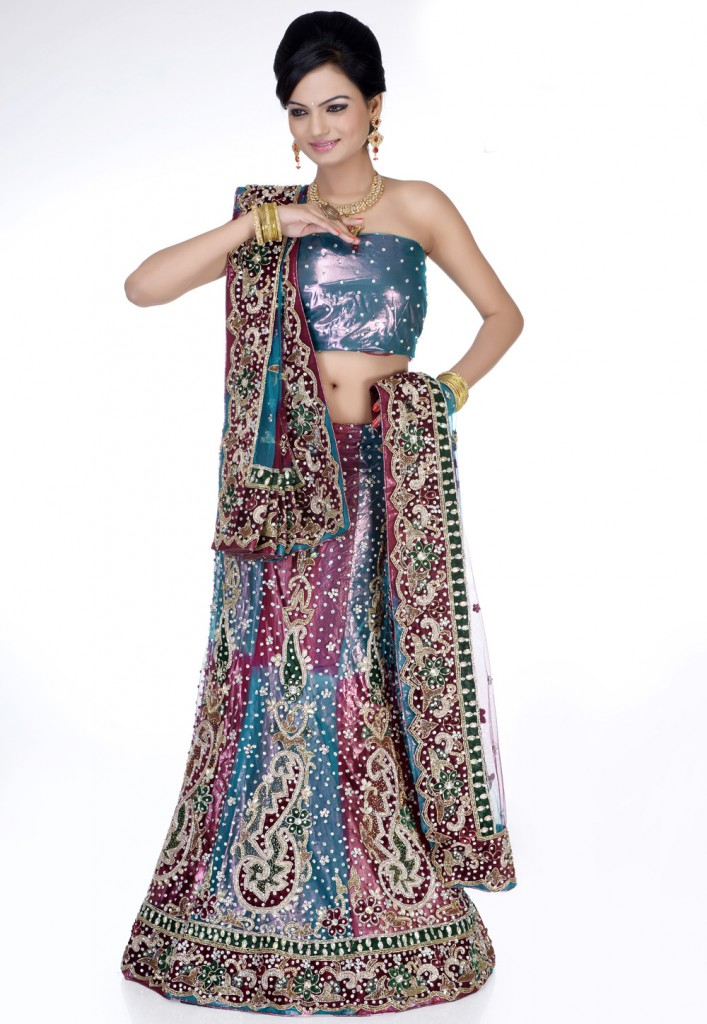 Lehenga with Dabka work at Utsav Fashion
