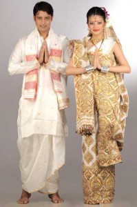 Assamese Bride & Groom