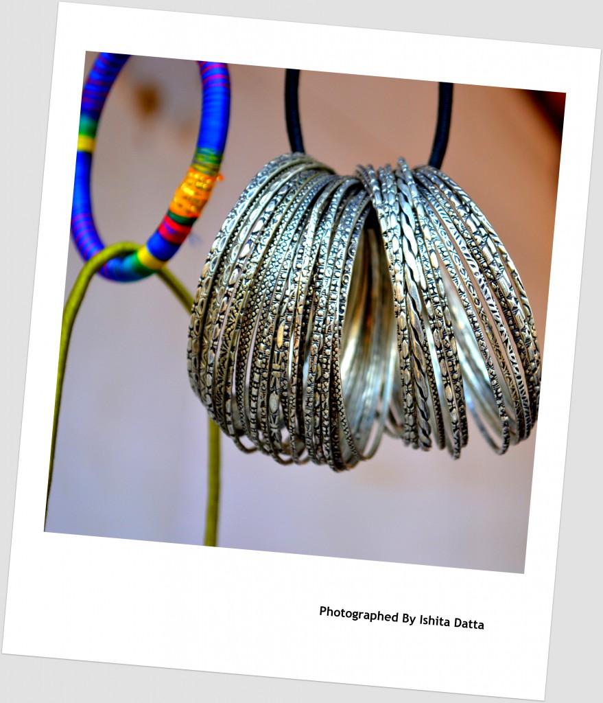 Pale Silver Bangles