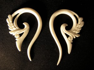 Animal Bone Earpieces