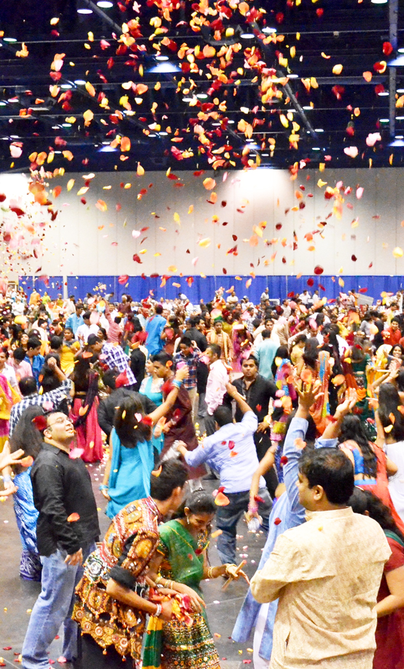 This 2015 image shows devotees celebrating Krishna Janmashtami at the George R. Brown Convention Center, Greater Houston,  United States of America. (Image: Indoamerican-news.com)