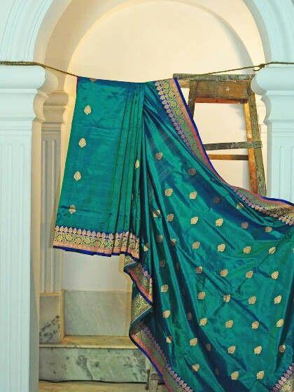 Banaras Brocade Saree with Buti Work