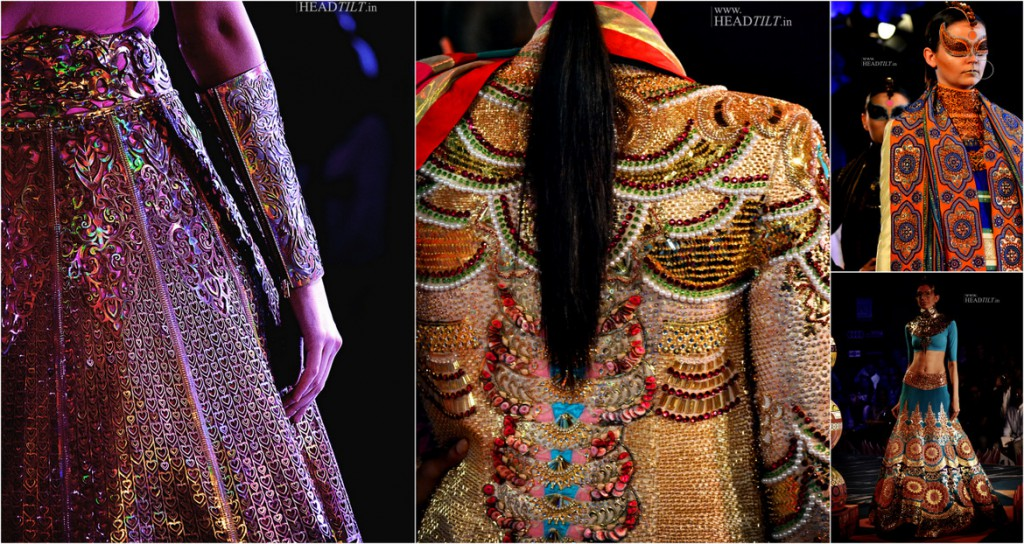 Colection by Manish Arora with Laser Cut filled with works of applique, sequins and more (Image Courtesy: Headtilt)