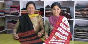 Women with Thapada Shawl