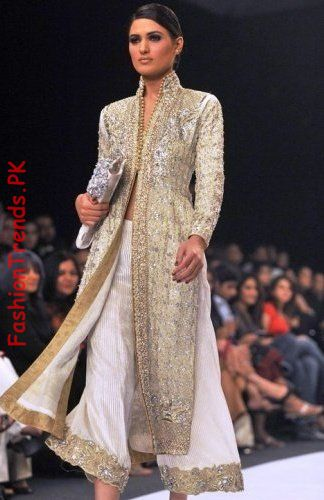 Women Sherwani (Image Courtesy: Fashiontrendpk)