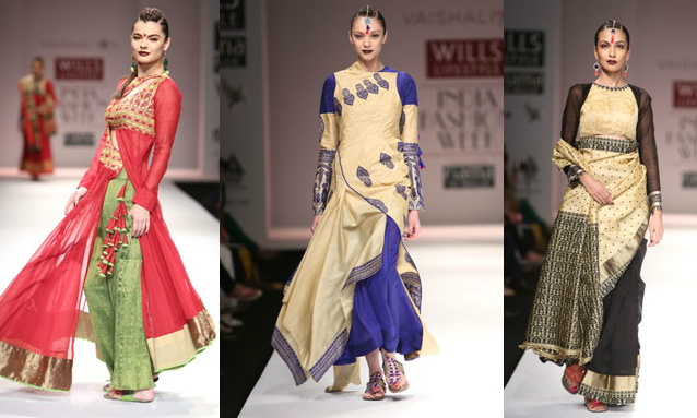 Mekhela Chador on Runway