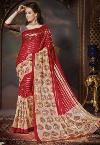Bhagalpuri Silk Saree in Red