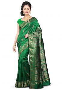 Handloom Pure Sournachuri Silk Saree in Green
