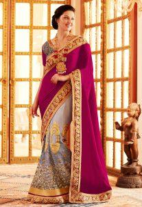 lehenga-style-velvet-saree