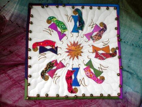 Warli Art on Fabric