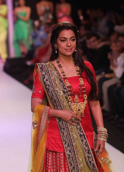 Mangalsutra worn by Juhi Chawla at IIJW 2013 (Image: passionforfashion)