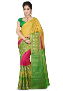 Pochampally Ikat Pure Silk Saree in Multicolor
