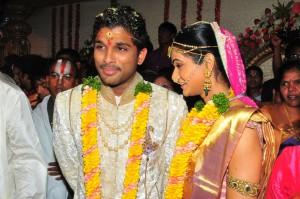 Telugu Movie Star Allu Arjun with his wife Sneha Reddy