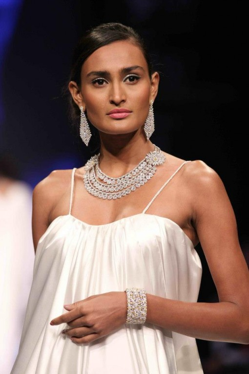 White Gold Jewelry at Indian Bridal Jewelry Week '14