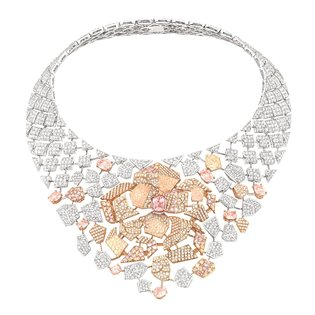 White & Pink Gold Jewelry - Paris Couture Fashion Week '14