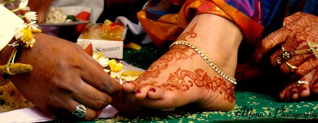 Toe Ring On a Wedding Day