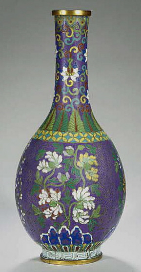 Cloisonne Art Work Vase