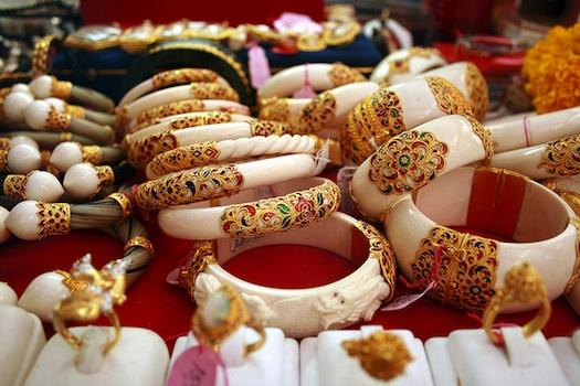 Ivory Bangles with Meenakari work