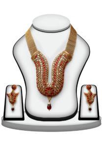 red-polki-necklace-set