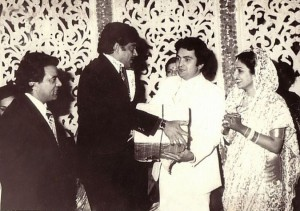 Rishi & Neetu at Reception Ceremony