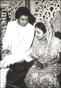 Rishi Kapoor & Neetu Singh at their Wedding Ceremony