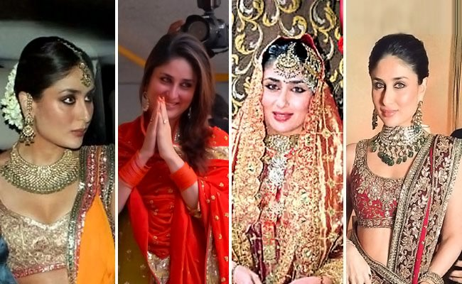 Outfits donned by Kareena in her Wedding Ceremonies