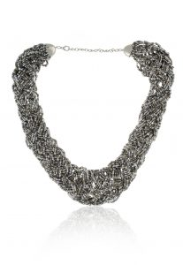 Beaded Necklace in Grey
