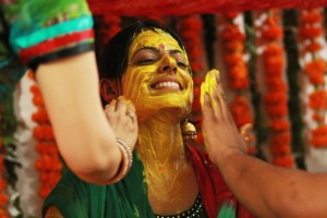 Haldi for the bride