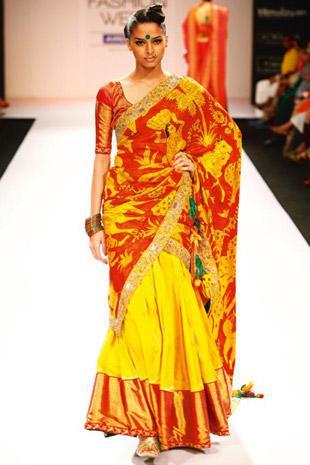 Painted Silk Saree