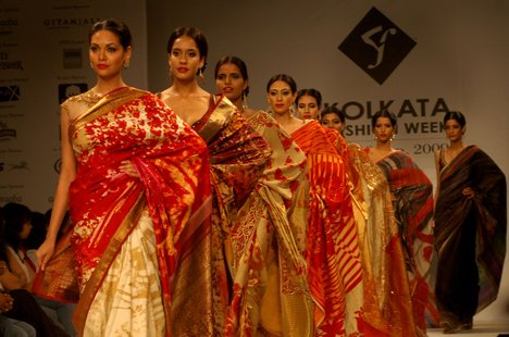 Sarees in traditional weaves