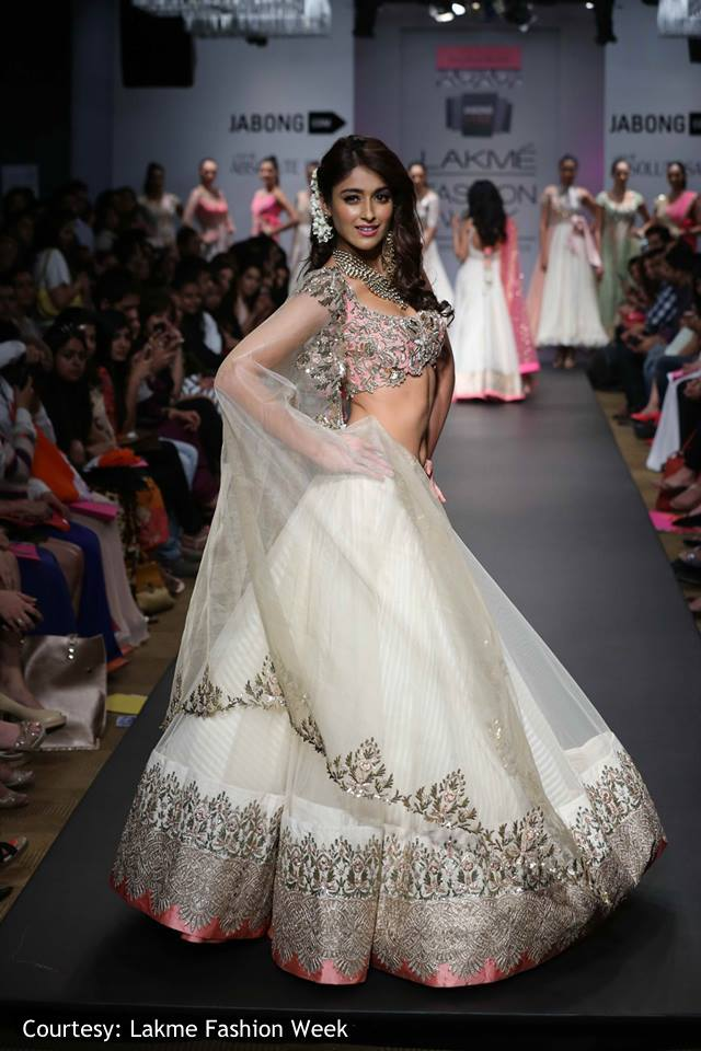 Ileana D'Cruz walked the ramp for Anushree Reddy