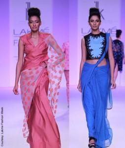 Shikha & Vinita's Saree Designs @ LFW S/R 2014