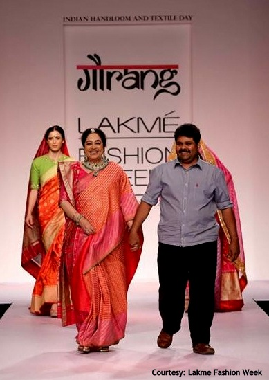 Gaurang Shah at LFW'14 with Kiron Kherr