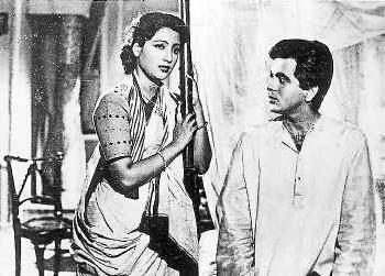 "Suchitra Sen and Dilip Kumar in Bimal Roy's ""Devdas"" (1955)"