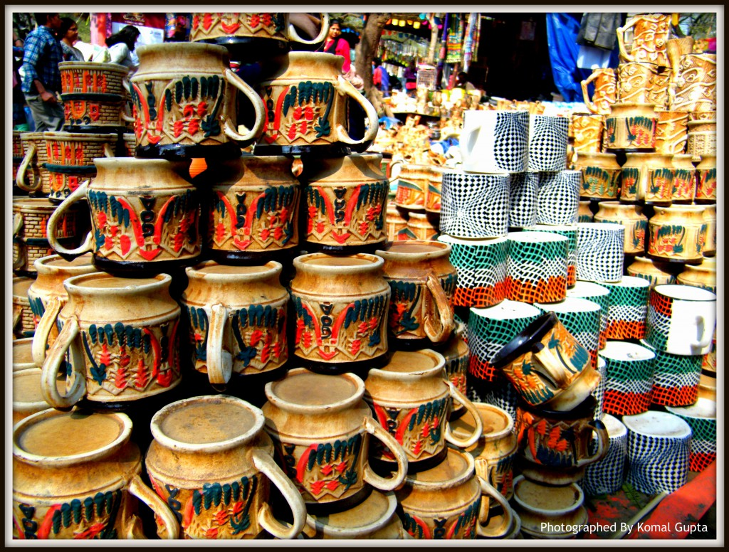 Colors of various ceramic cups
