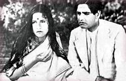 Kundan Lal Saigal and Jamuna in 1935 Devdas