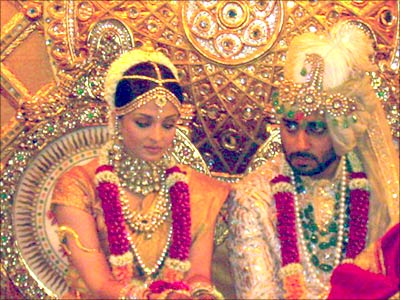 Abhishek and Aishwarya on the Wedding Day