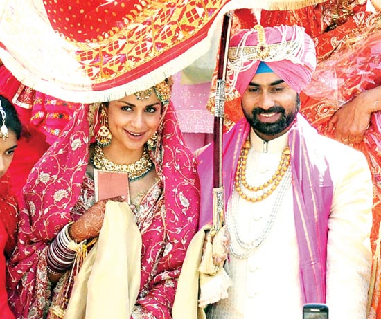 Gul Panag With Her Husband Gurshwinder Singh Attari (Source: mid day)