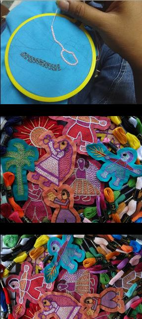 Embroidery Pieces Using Sujani Embroidery