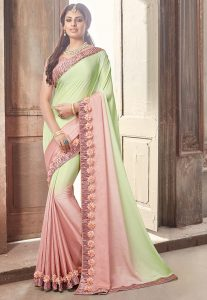 Chiffon Saree With Lace