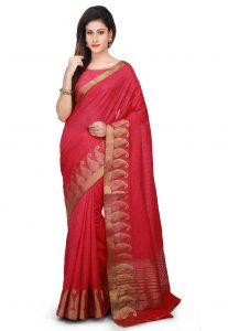 Matka Silk Saree in Red