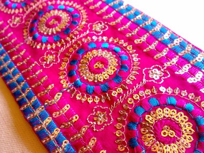 Embroidered Fabric (Image Courtesy: vacationstoindia.com)