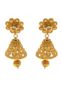Beaded Jhumka Style Earrings