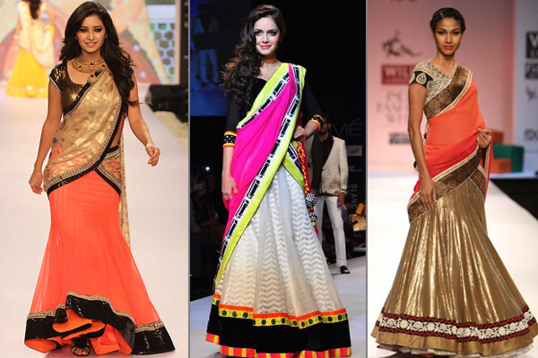Half Saree (Image: bollywoodshaadis.com)