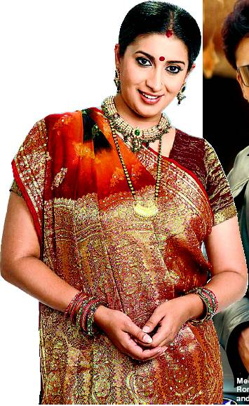 Smriti Irani's Gujarati Look (Image: bollygraph)