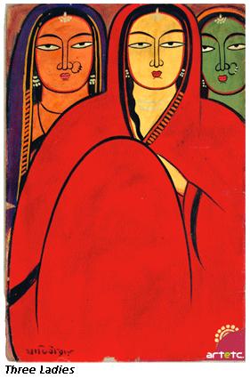 Jamini Roy Painting (Image: artnewsnviews.com)