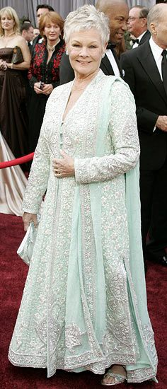 Lucknow Chikan worn by Dame Judi Dench