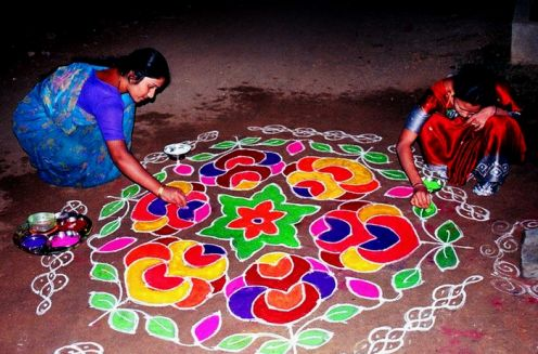 Rangoli (Image: http://holidayindia.net)